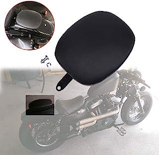 DREAMIZER 摩托车后座坐垫乘客百万座垫适用于哈雷戴维森 Sportster 48 四十八 XL 1200X 2010-2016 XL883 XL1200,黑色