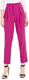 Bar III 女式高腰百褶正装裤 粉色 2