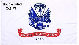 美国*军国旗双面 2x3 户外-美国美国 1775 年白色*旗帜重型带黄铜垫圈适用于户外室内房间墙壁