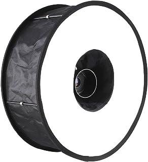 Mcoplus 45.72 厘米可折叠宏环速光闪光扩散器圆形软箱反射镜 - 黑色