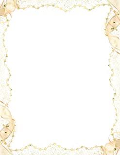优质纸张! 气球边框字母,80 支,21.59 cm x 27.94 cm (2013168) Gold Party 金色