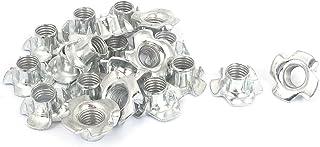 Sourcingmap T 螺母镀锌 4 爪 T 恤螺母紧固件 M10x1.5mm 20 件