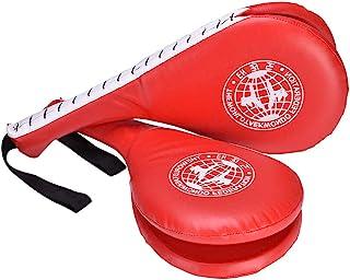Yosoo *装备耐用醒目垫红色跆拳道踢垫双 PU 踢球目标训练桨适用于跆拳道和空手道训练