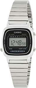 Casio Casio 女士数字手表不锈钢表链 LA670W