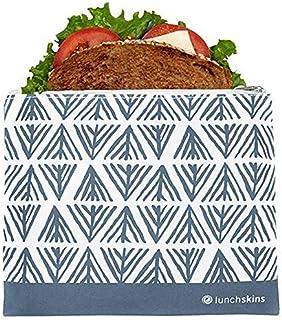 Lunchskins Z-MED-GEOMET-BLU Reusable Zippered Sandwich Bag, Blue Geometric, 1 EA