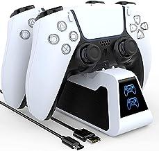 PS5 控制器充电器 Playstation 5 控制器充电站兼容*版 Playstation 5 DualSense 充电底座带 LED 指示灯*芯片保护超快充电