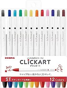 Zebra 斑马 ClickART 水彩笔 ST12色套装 WYSS22-12CST