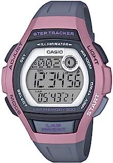 Casio 卡西欧 女式 Runner 石英跑步手表树脂表带,黑色,19.3(型号:LWS-2000H-4AVCF)