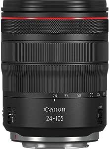 Canon 佳能 变焦镜头 RF 24-105mm F4L IS USM 适用于 EOS R (77mm 滤镜螺纹,图像稳定器,自动对焦),黑色