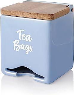 Sweese 230.110 陶瓷茶包收纳收纳架,为朋友和家人提供漂亮的乔迁礼物,淡紫色