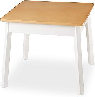 Melissa & Doug 木制方形桌 – 儿童家具 – 自然色/白色