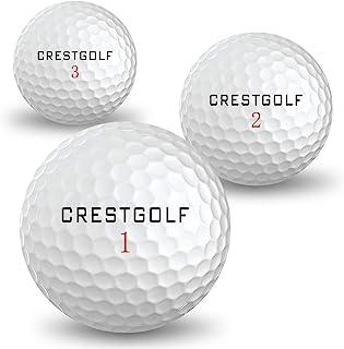 Crestgolf 柔软触感高尔夫球,长距离高尔夫球,带有耐用的聚氨酯覆盖,用于快速或慢速摆动,规定大小旋转高尔夫球,适用于高尔夫击球游戏
