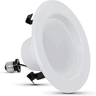 Feit Electric LEDG2R4/927CA 50W 相当于 7.2 瓦增强生动自然光 CRI 90+,适合 4 英寸外壳罐,修剪,全范围可调暗嵌入式筒灯 LED 改装套件,50,2700K 软白色