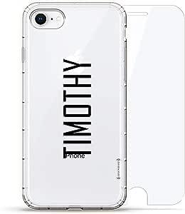 Luxendary Air 系列 360 束,设计师款手机壳 Plus 钢化玻璃 iPhone 8/7LUX-I8AIR360-NMTIMOTHY2 NAME: TIMOTHY, MODERN FONT STYLE 透明