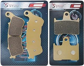 SYUU 摩托车零件前刹车片刹车片适用于哈雷戴维森 XL 1200 V 七十二 XL 1200 T 超低 XL 1200 C Sportster 定制 2014-2017 FA640F FA254R