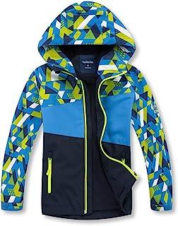 OLEK 男孩雨衣户外防水防风夹克雨衣轻便风衣适合露营徒步跑步