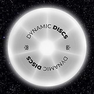 Dynamic Discs Night Glider LED Catch 飞盘 | 175 克夜光飞盘 | 发光易投掷终极飞盘 | 非常适合后院游戏和尾部