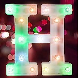 彩色字母灯 LED 字母灯 适用于酒吧、钻孔灯珠派对、字母灯照明(电池供电)(字母高)