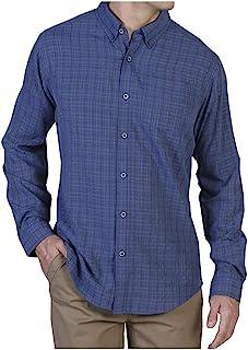ExOfficio 男士人造丝格子长袖衬衫