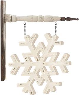 K&K Interiors 53601A-AR 白色彩绘雪花箭替换装