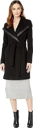 Calvin Klein 女式束腰裹身羊毛外套