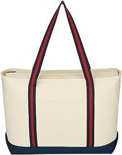 Logotastic 棉质帆布 Admiral 手提袋(20 个装),大号