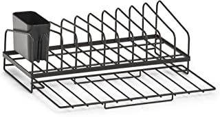 Zeller 14707 餐具滴架,金属,黑色,约36.8 x 17.5 x 13.5厘米