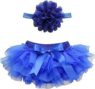 18 色芭蕾舞短裙尿布套 0-24 个月新生儿和女婴 TUTU Bloomers & 头带套装