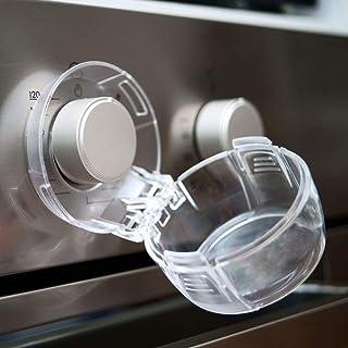 Heart of Tafiti 炉灶旋钮盖,儿童*,大号,5件装,厨房*防护罩,适用于儿童、婴儿、幼儿,透明烤箱和燃气旋钮盖