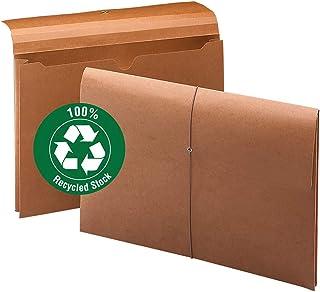 Smead * 可回收扩展文件包带封口,5.08cm 扩展,合体尺寸,弹性闭合,红色,每盒 10 个 (77171)