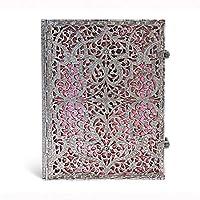 paperblanks 愛爾蘭 Silver Filigree系列橫線筆記本大號 玫瑰紅