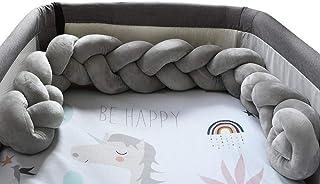 Plastimyr Twist 婴儿床保护套,装饰条纹,灰色,1.20 厘米