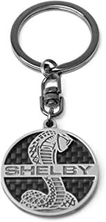Shelby Cobra 螺旋蛇标志钥匙扣 | 真正的碳纤维结构 | 轻便