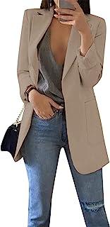 BOFETA 女式纯色开衫休闲长袖外套 加大码 S-5XL