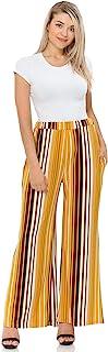 Pastel by Vivienne 女式条纹 Palazzo 长裤