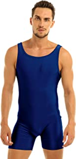 TTAO 男式氨纶短款背心紧身衣吊带摔跤紧身连衣裤