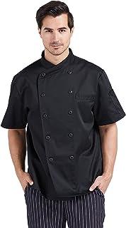 Nanxson 中性厨师夹克厨房*店棉白色制制服厨师工作外套带透气网布 CFM0028