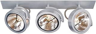 SLV KALU RECESSED 3 凹射灯 Spot 灯 - 3 x GU10 夹羽毛拉丝铝 113376