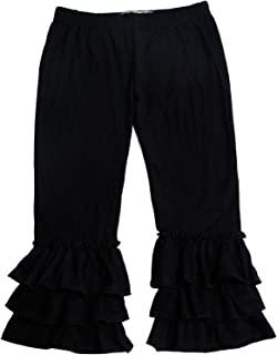 QLIyang 女孩打底裤豹纹印花喇叭裤