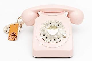 GPO 746 旋转式 20 世纪 70 年代风格复古座机电话 - 卷曲线746ROTARYAZU 粉红色
