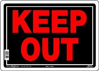 HILLMAN 840139 Keep Out 标志,黑色和红色铝金属,25.4 x 35.5 厘米 1 件