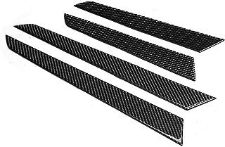 室内门板,4 件室内门面板盖装饰真正碳纤维,适合梅赛德斯c-Class W204 07-13 左驾驶