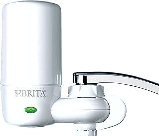 Brita 碧然德 自来水过滤器系统,带过滤器更换提醒功能的水龙头过滤系统,减少铅含量,不含BPA,仅适合标准水龙头,完整,白色