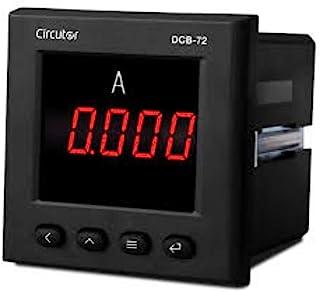 DCB-72A AC 72 x 72 安培表带LCD显示屏,5 x 7.2 x 7.2厘米,黑色