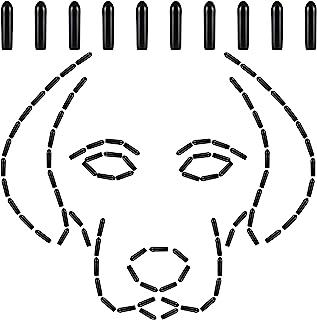 100 件宠物爪项圈套狗爪训练项圈尖乙烯基舒适橡胶套适用于宠物狗爪项圈增加舒适度,黑色(2.5 毫米)