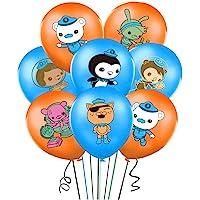 35 件 Octonauts 气球派对用品 30.48 厘米乳胶气球适用于儿童婴儿淋浴生日派对装饰