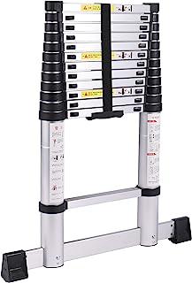 Domaker 折叠梯子铝制伸缩梯子,12 英尺(约 3.8 米)