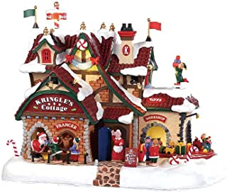 Lemax 95462 Kringle 的小屋,新款 2019 圣诞老人仙境村情景和声音系列,树脂装饰微型建筑和雕像,圣诞节装饰/礼物/收藏品,24.00 厘米 x 29.97 厘米 x 22.99 厘米