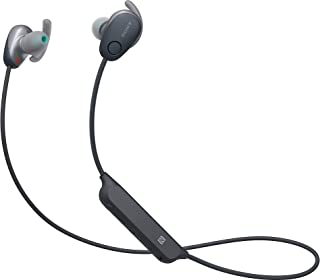 Sony 索尼 WI-SP600N 高级防水蓝牙无线超低音运动入耳式耳机 6 小时播放耳机/麦克风(黑色)