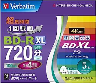 三菱化学媒体 Verbatim 1次录像用 BD-R XL VBR520YP5V2 (单面3层/2-4倍速/100GB/5张)